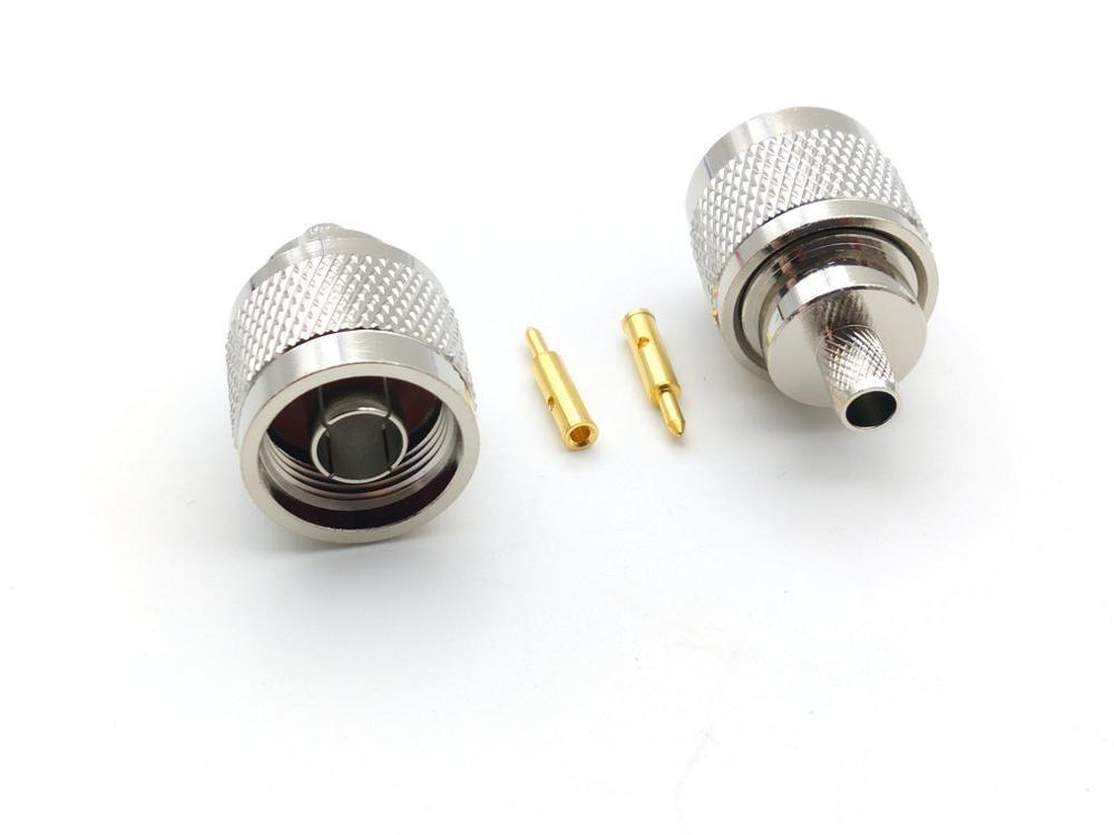 1000 قطعة النحاس N المكونات الذكور تجعيد محول موصل ل ل RG-8X LMR240 RG8X LMR-240 كابل جديد
