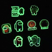Cartoni animati Charms per scarpe morbido PVC fluorescente jibz per accessori Croc scarpe luminose accessori Kid hole scarpa fibbia charms design