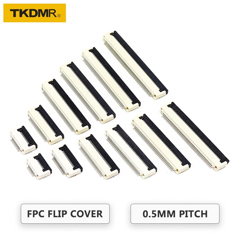 TKDRM, 5 uds., conector FPC FFC de 0,5mm, cable plano, conectores PCB 4P 5P 6P 7P 8P 9P 10P 11P 12P 13P 14P 15P 16P 17P 18P 19P