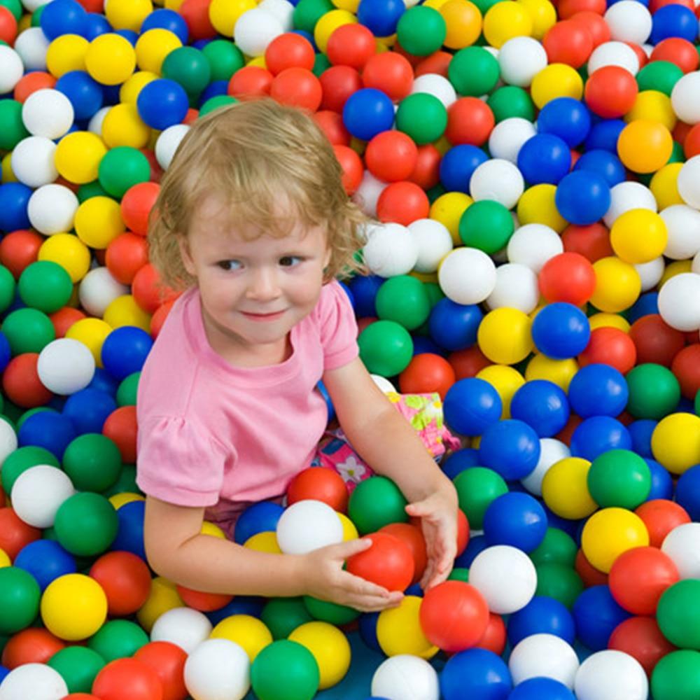 400 Pcs/Lot Plastic Balls Eco-Friendly Colorful Ball Soft Swim Pits Toys For Children Beach Ball Water Pool Ocean Wave Balls