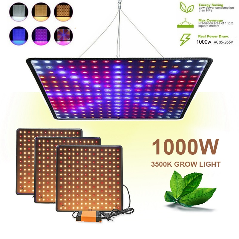 Светильник для выращивания растений светодиодный светильник для выращивания растений 1000 Вт Панель полный спектр светильник для растений ...