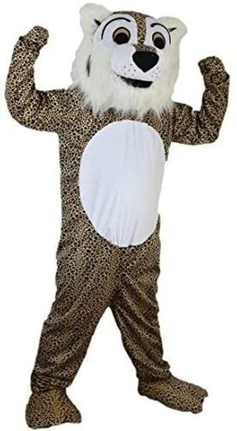 جاكوار ليوبارد النمر زي شخصية كرتونية التميمة أفخم مع قناع للكبار تأثيري فستان هالوين حفلة حتى