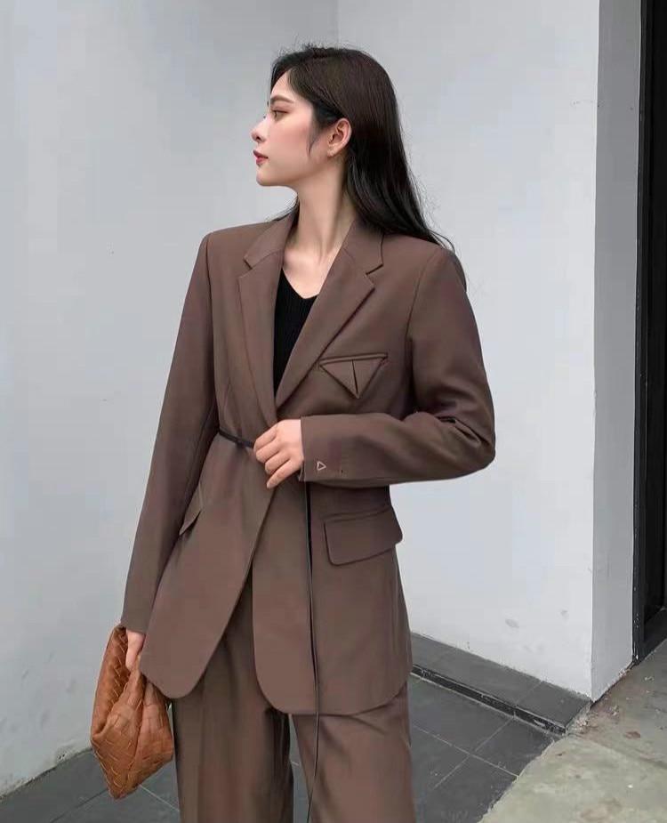 spring-autumn-new-products-fashion-brand-luxry-design-commute-versatile-belt-wool-suit-button-less-lapel-style-commuting-jacket