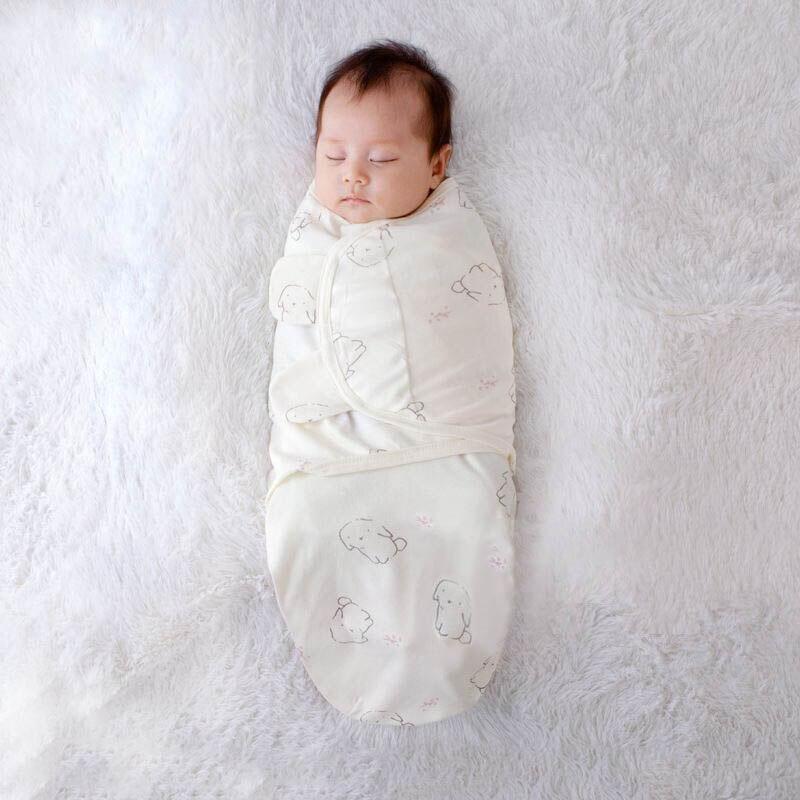 Odzież dla noworodka chłopcy dziewczęta sen zapobiega śpiącemu śpiworowi Startle Reflex Baby Swaddle