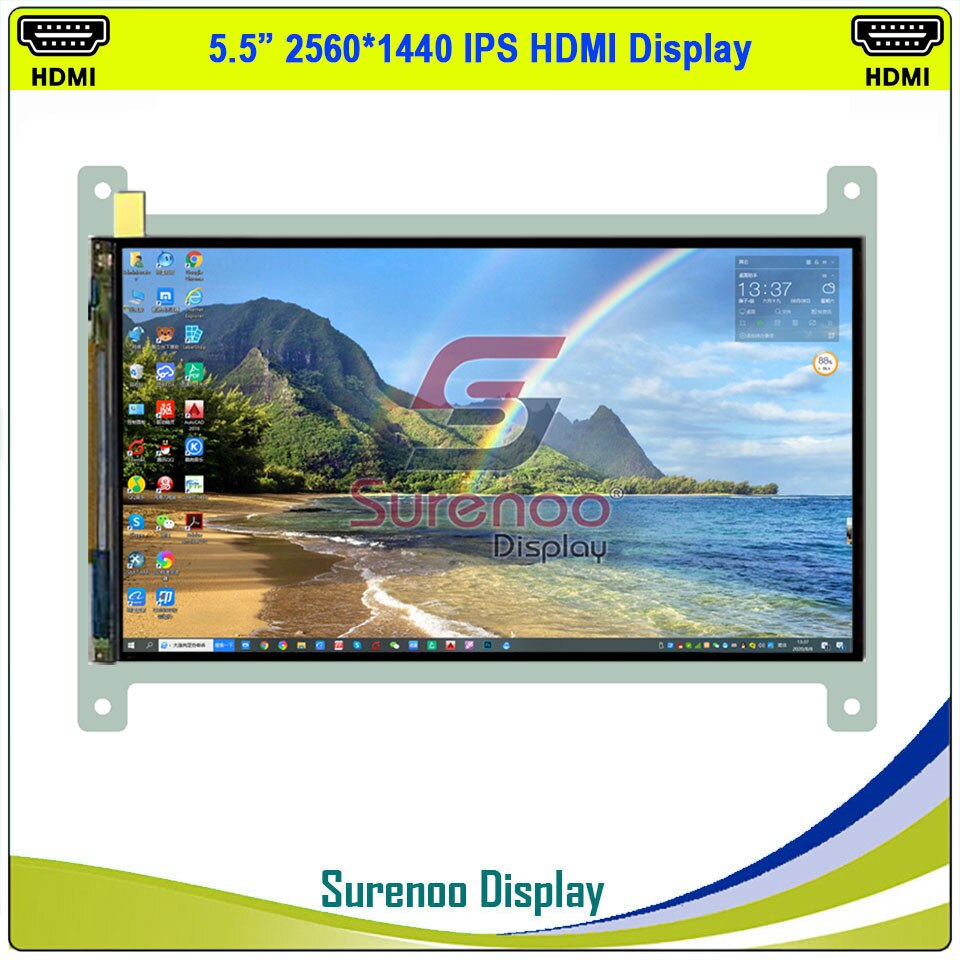 "5,5 ""HDMI todo en 2K 1440*2560 Sharp MIPI LCD IPS módulo Monitor Panel de pantalla LCM LS055R1SX04 para RaspBerry Pi"