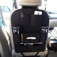 new auto car seat back multi pocket storage bag organizer holder accessory black