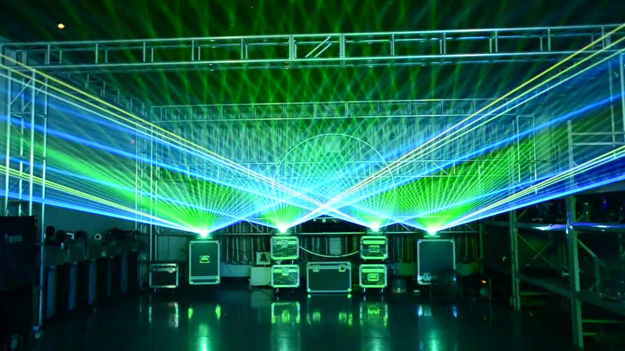 أفضل سعر ضوء ليزر للديسكو 8000mW RGB ليزر مرحلة عرض النظام