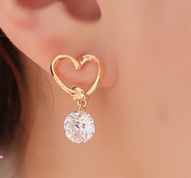 2020 Earings Brincos Factory Direct Sale Ms Han Edition Fashion Temperament Joker Adorn Article Love Stud Earrings Wholesale