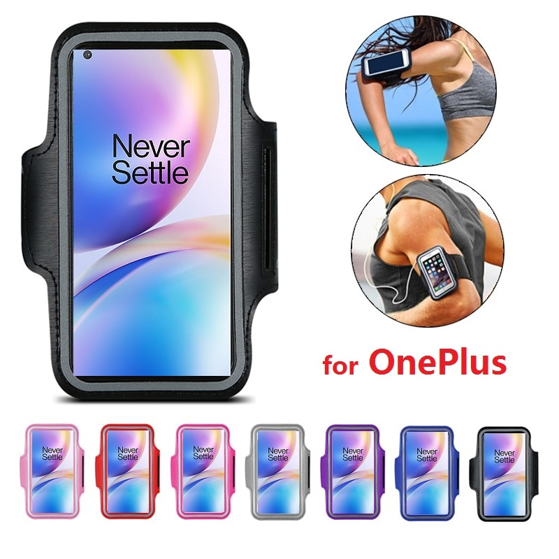 Arm band Case for Running Phone Holder Bracelet for OnePlus 8 Pro Z 7T 7 Pro 6T 5T 3T 1 2 3 5 6 One Plus 8 7 Pro Arm band Case
