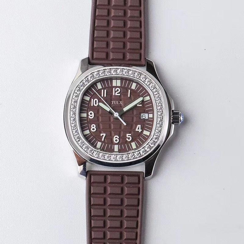 Replica Ladies Sports Series TULX 5067A-023 Dark Brown High Imitation Automatic Mechanical Top Brand Women Watch