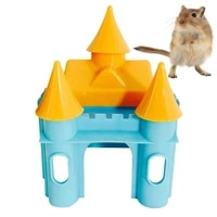 1pc plastic small hamster castle toy hideout house for cage guinea pig play exercise huts rodent squirrel ferret sport house toy