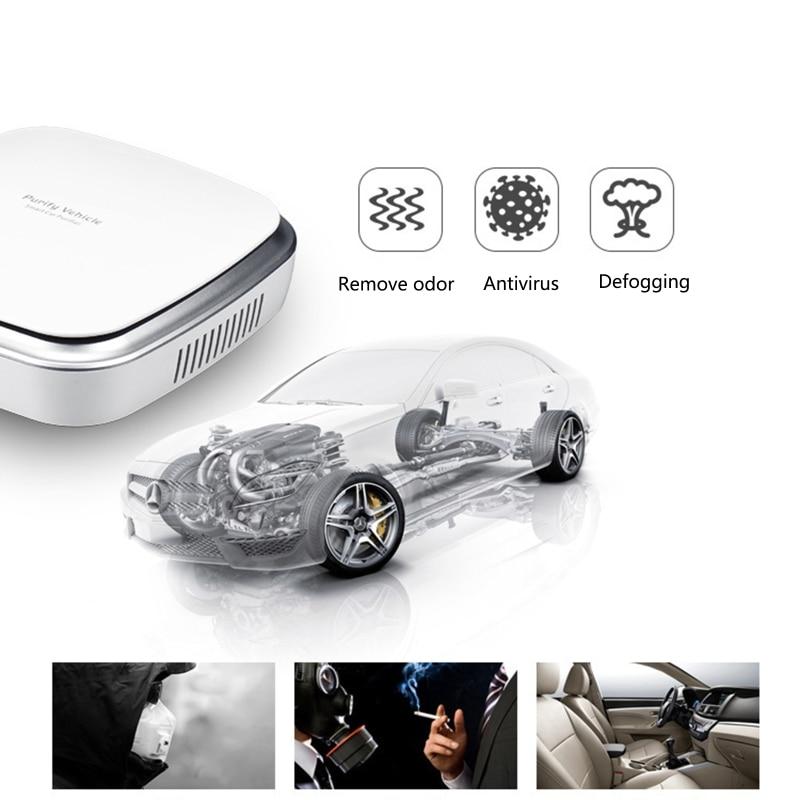 Smart Touching Car Air Purifier Remove Formaldehyde Scavenging Odor Sterilization Mini Air Cleaner Interior