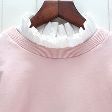 Petal Embroidery Shirt Fake Collar White Tie Vintage Detachable Collar False Collar Lapel Blouse Top