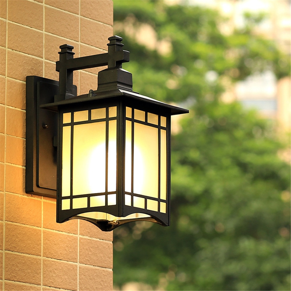 E27 Nordic design LED retro outdoor wall lamp, installed on the outdoor wall of the villa hotel bird cage waterproof street lamp enlarge