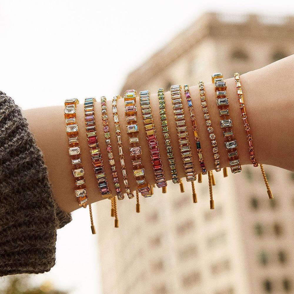 ¡Novedad de 2020! Elegantes pulseras Bohemias de cristal brillantes para mujer, regalos de boda para fiesta, joyería femenina, pulseras de abalorios multicolor
