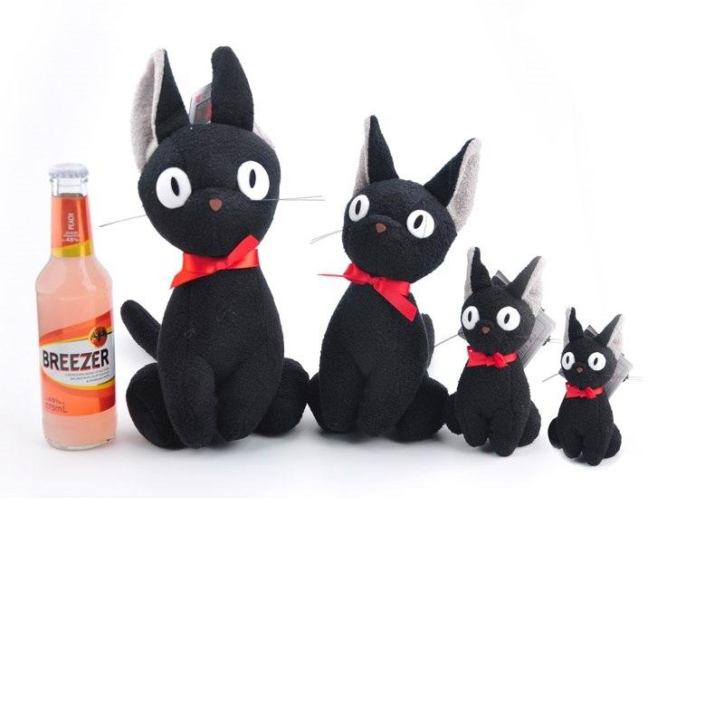 Novo 4 tamanho japonês anime kiki serviço de entrega preto jiji brinquedo de pelúcia kawaii bonito macio pelúcia chaveiro saco pingente boneca