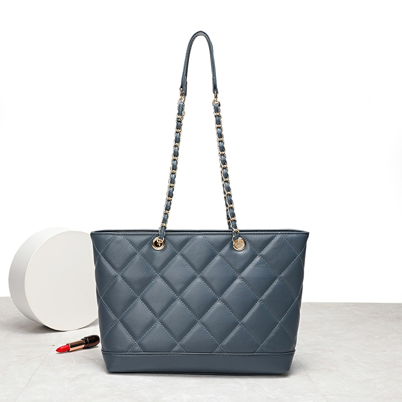 YILINSA-حقيبة يد نسائية فاخرة من جلد الغنم ، حقيبة بمقبض علوي ، عصرية ، سعة كبيرة ، حقيبة كتف مصممة