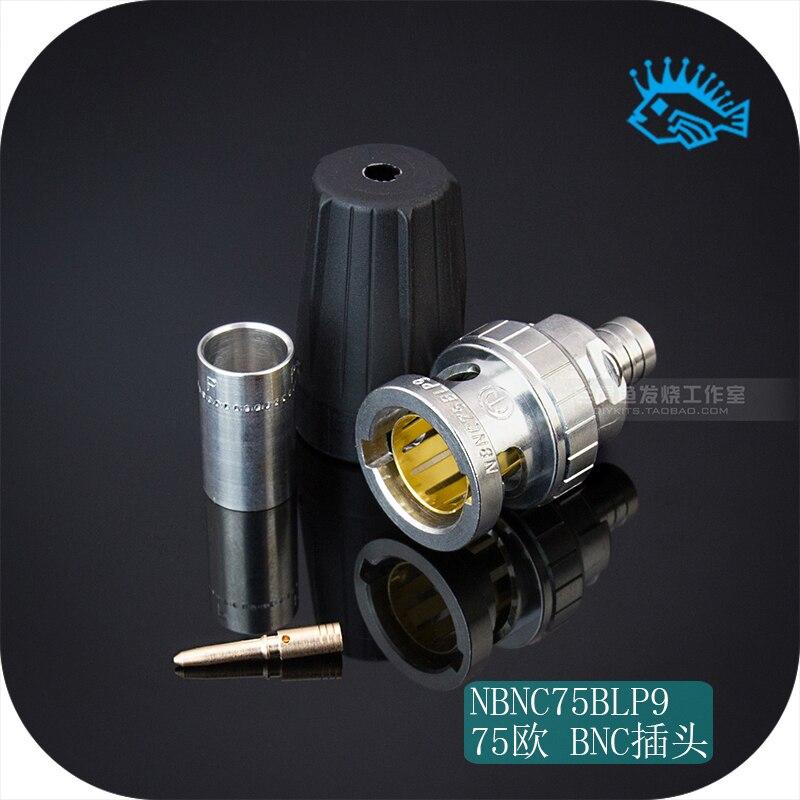 1 uds/5 uds Suiza Neutrik NBNC75BLP9 75 ohm reloj de audio coaxial de alta frecuencia rearTWIST HD BNC macho