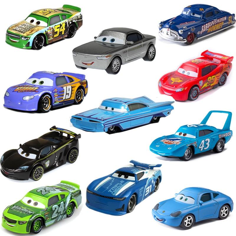Disney Pixar Тачки 2 3 Новый Джексон шторм Рамирес Молния Маккуин 1:55 литая машина металлический сплав для мальчиков детские игрушки Рождественски...