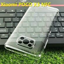 Für Xiaomi POCO X3 NFC Klar Telefon Fall Zurück Abdeckung Harter PC Fall Schutzhülle