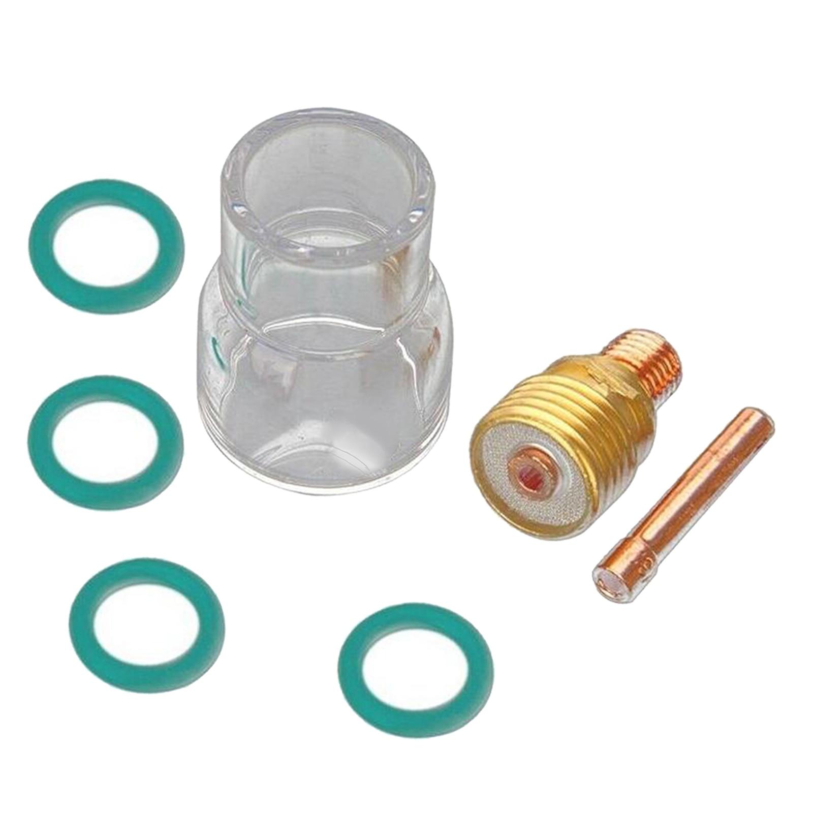7 шт./компл. фонарь TIG сварочный газовый объектив #12 Стекло Набор чашек для WP17 WP18 WP26