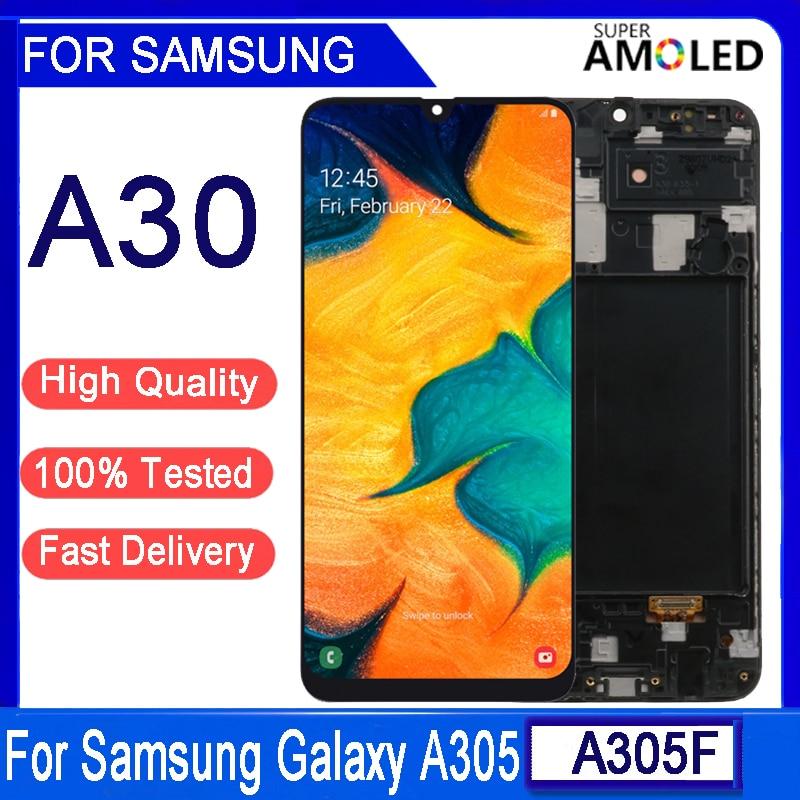 شاشة AMOLED LCD تعمل باللمس ، 6.4 إنش ، لهاتف Samsung A30 2019 A305 A305F A305FD ، أصلي