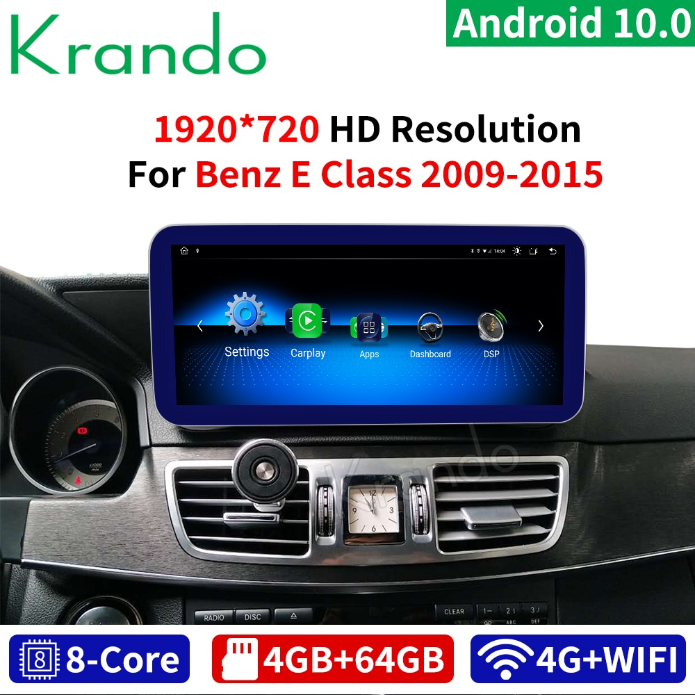Krando Android 10 8 Core 4 + 64G radio de coche GPS navegación audio de reproductor Multimedia para Mercedes Benz Clase E W212 2009-2015