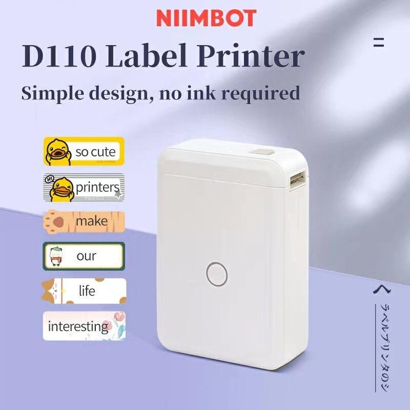 Niimbot D110 طابعة التسمية اللاسلكية المحمولة جيب يده طابعة الحرارية سعر التسمية ملصقا علامة اللوازم المكتبية المنزلية
