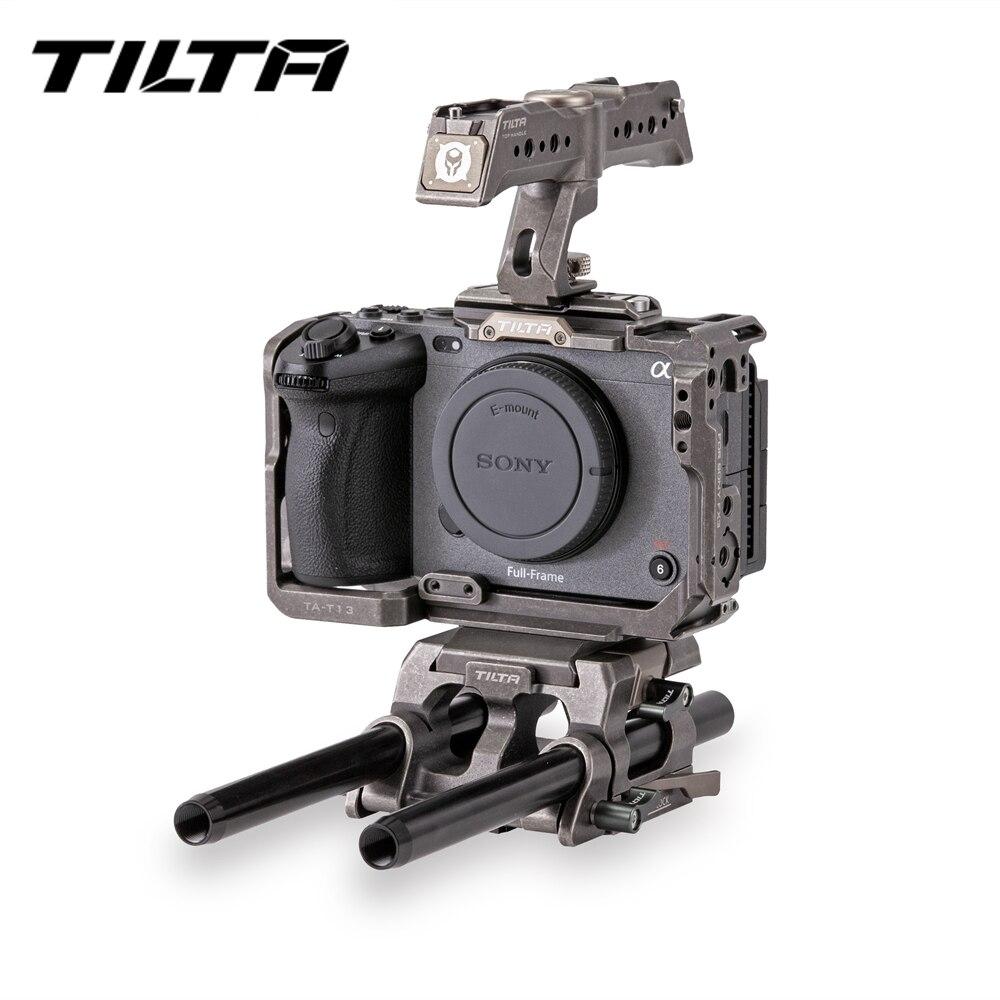 Tilta FX3 هيكل قفصي الشكل للكاميرا درع لسوني FX3 كاميرا الأساسية عدة TA-T13-A Dslr تلاعب 15 مللي متر اللوح العلوي مقبض التكتيكية رمادي أو أسود