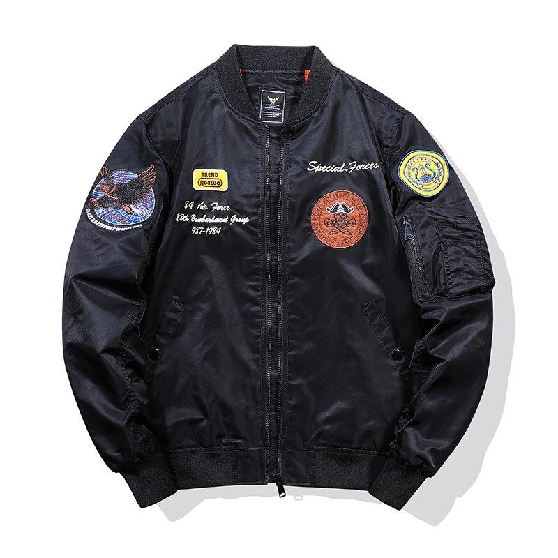 TEHEZAD Bomber Jackets Men Embroidery Spring Autumn MA-1 Military Nylon Windbreaker Mens Baseball Uniform Casual Loose Jacket 4X