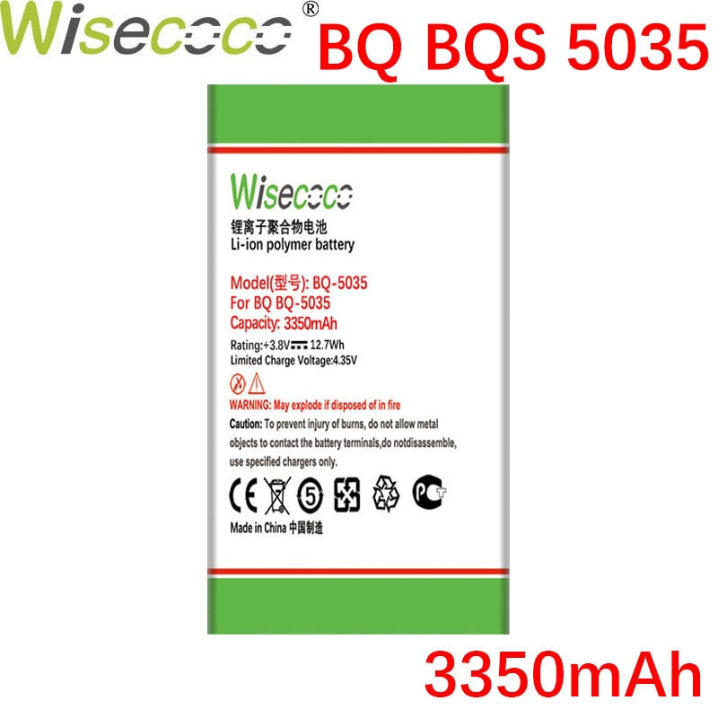 WISECOCO 3350mAh Battery For BQ BQS 5035 BQ-5035 Velvet Mobile Phone Latest Production High Quality Battery+Tracking Number недорого