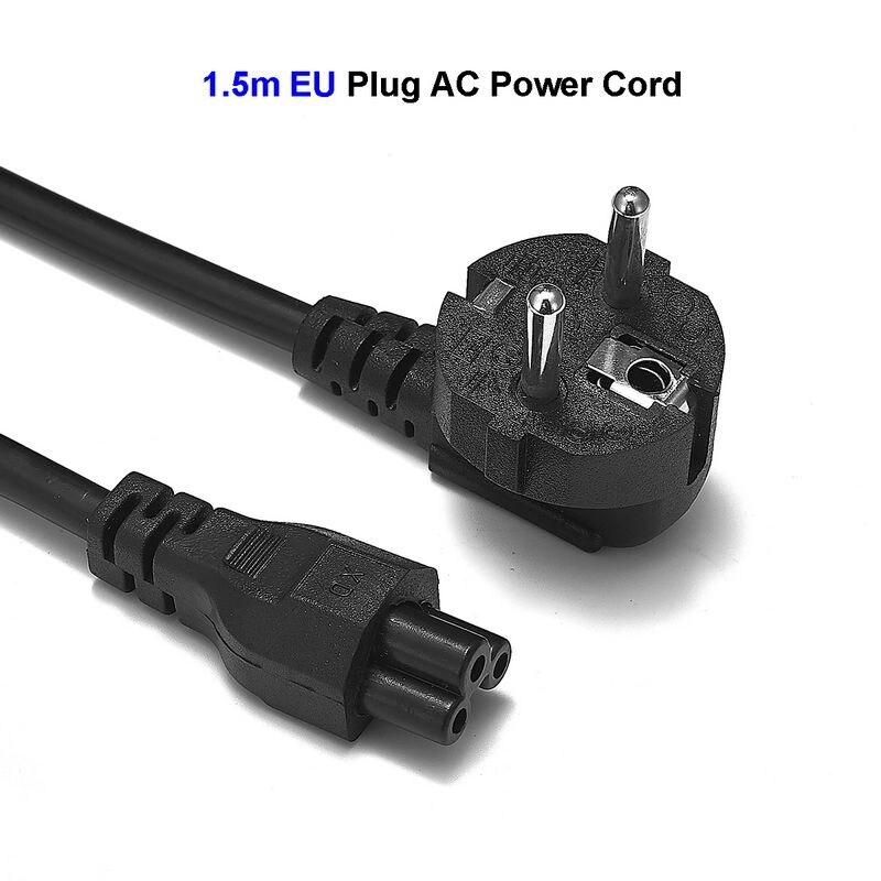 Cable de alimentación europeo para ordenador portátil, 1,2 m, 1,5 m, 1,8...