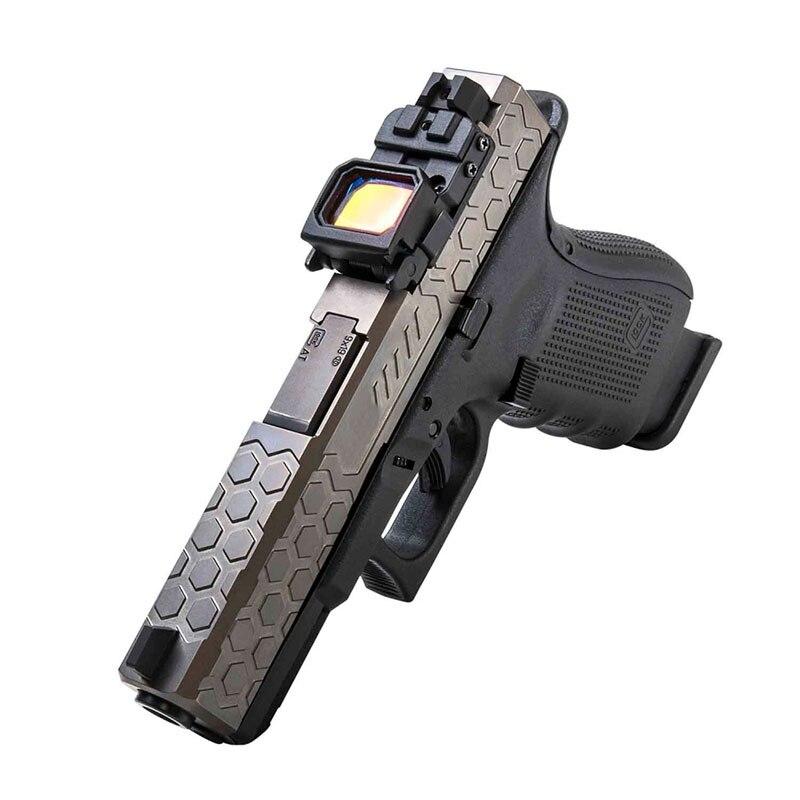Mini pistola táctica plegable de 22x16mm de Red Dot Sight G17 G18 para montar pistola de mano, deportes IPCS de bajo perfil, juego de guerra Airsoft