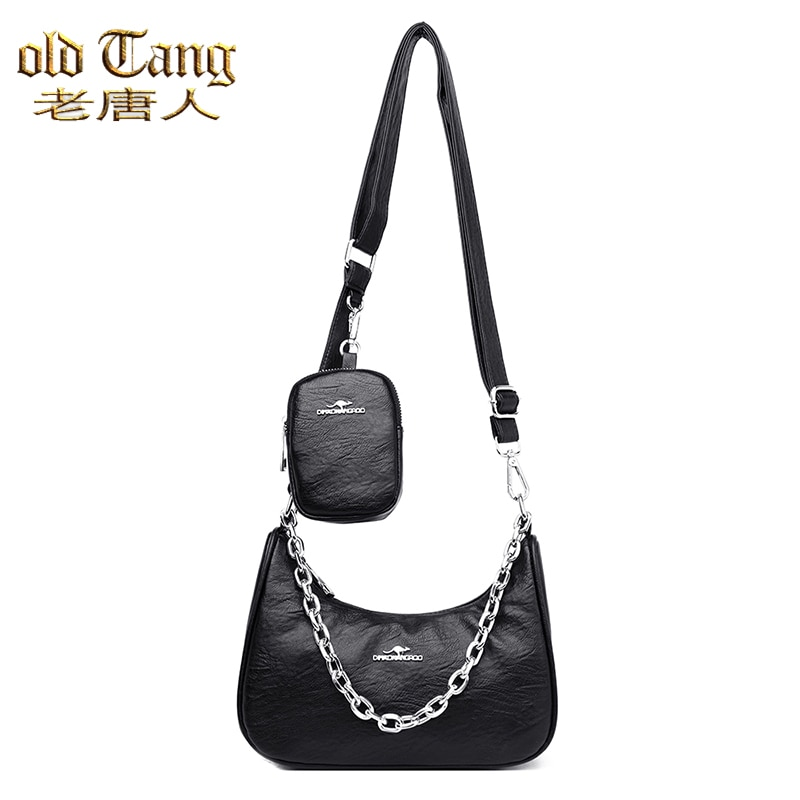 OLD TANG High Quality PU Leather Fashion Hand Bags For Women 2020 New Luxury Casual Shoulder Crossbo