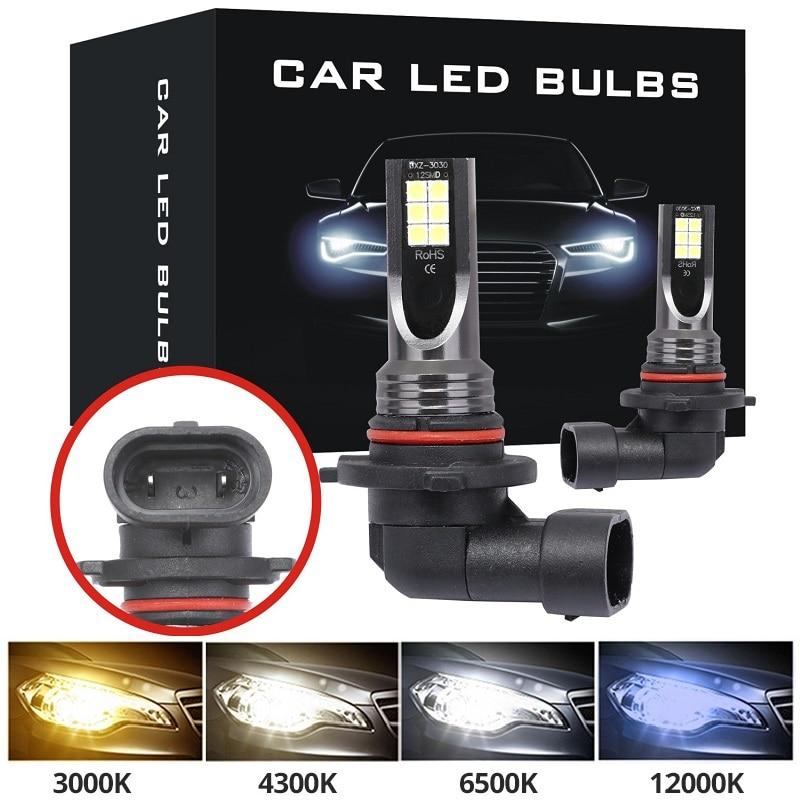 9005 HB3 LED Bulbs Super Bright H7 H1 H11 H8 H9 9006 HB4  Auto LED Car Fog Signal Turn Light Driving Lamp White Amber Blue 3030