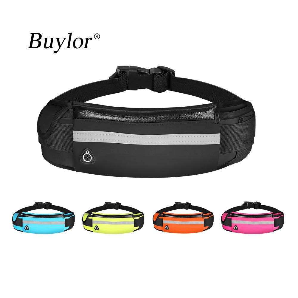 Buylor Sports Waist Bag Men Running Belt Bag Bum Bag Waterproof Fanny Pack Wallet Pouch Belt Portable Phone Holder Gym