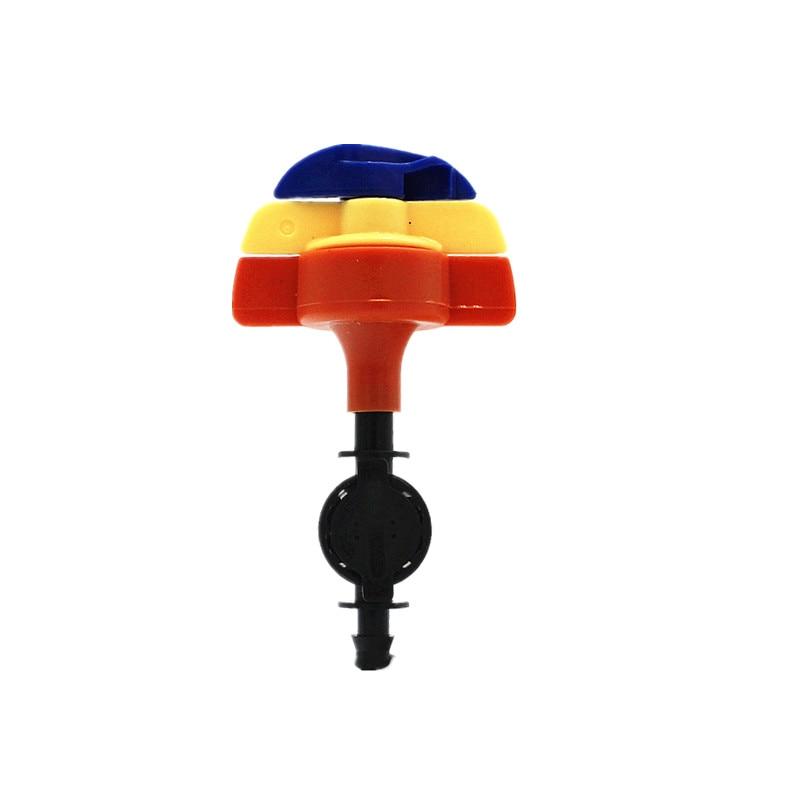 Transporte rápido 20 pces 360 graus sprinkler rotativo com 1/4 polegada antileak conector para a flor de mudas rega resfriamento gotejamento montagem