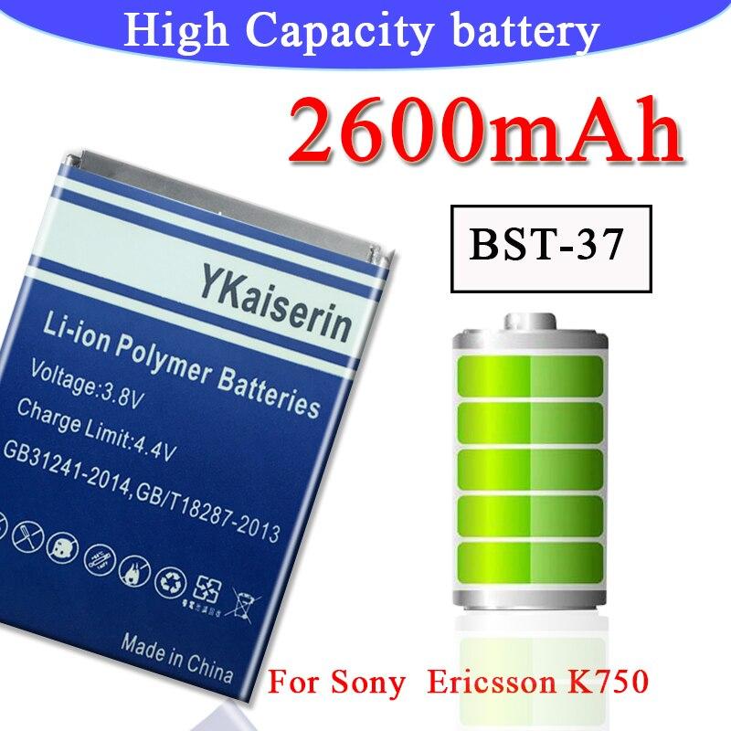 Новый аккумулятор для телефона BST37 BST 37 BST-37 для Sony Ericsson K750/ D750i W800i W810i K600 K610i D750i K200i K220i