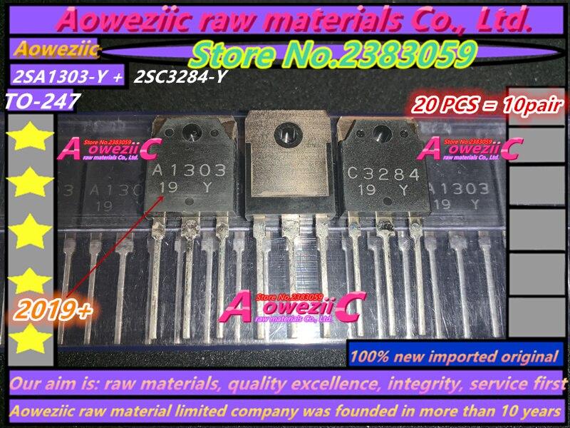 Aoweziic 2019 + 100% nueva importación original 2SA1303-Y 2SC3284-Y 2SA1303 2sc3184 a-247 amplificador de Audio Transistor de potencia (1 par)