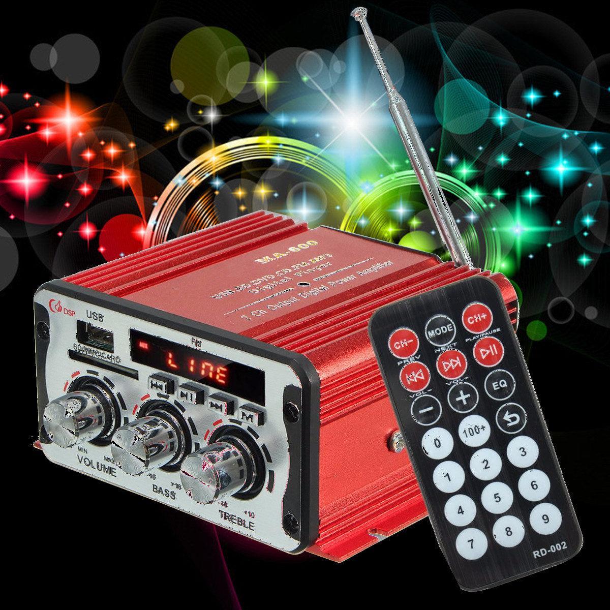 car stereo amplifier dc12v ac220v bluetooth 2ch hi fi car stereo audio power amplifier digital player usb sd fm dvd for car auto 12V Mini Car Amplifier Motorcycle Home Boat Auto Stereo Audio Amplifier 2 Channel Digital Hi-Fi Amp Support CD DVD MP3 Speaker
