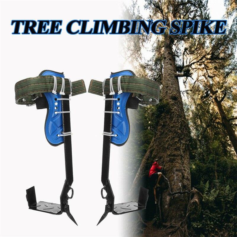 Escalada de árboles conjunto con pinchos cinturón de seguridad W/engranaje ajustable cordón para escalada de acero inoxidable con la herramienta afilado acero inoxidable y garras de acero