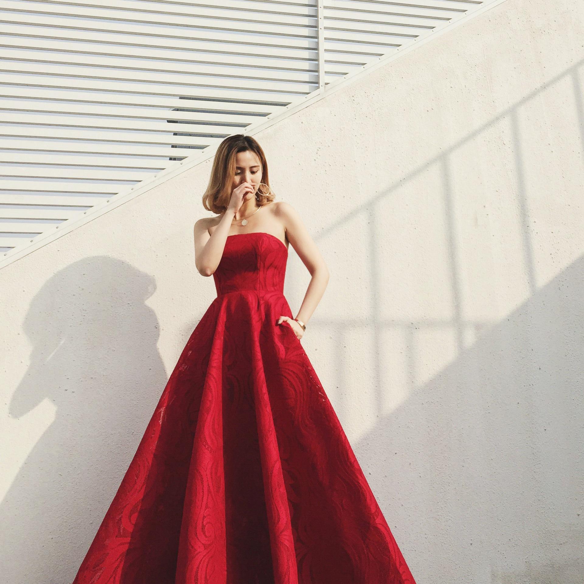 فستان سهرة ساتان ، طول الأرض ، بدون حمالات ، مثير ، أكتاف عارية ، فستان زفاف ، فستان حفلات مع شال صغير