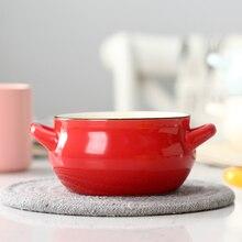 Tazón de sopa horneado en casa cuenco del horno de microondas hermosa vajilla de cerámica tazón de superficie vajilla niños