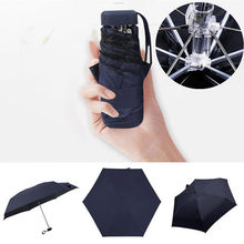 Mini Pocket Umbrella Folding Rain Sun Travel Flat Lightweight Women Folding Mini Umbrella Gear Easily Store parasol