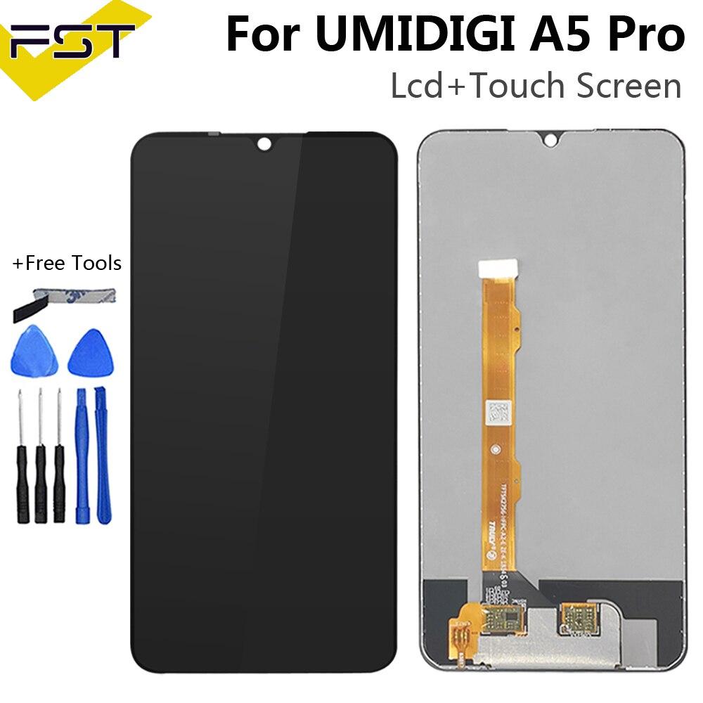 شاشة LCD + محول رقمي لشاشة تعمل باللمس لـ UMIDIGI A5 برو, شاشة LCD تعمل باللمس 100% ٪ أصلي ة ، تم اختبارها ، لوحة زجاجية لـ umidigi a5 برو lcd + الأدوات