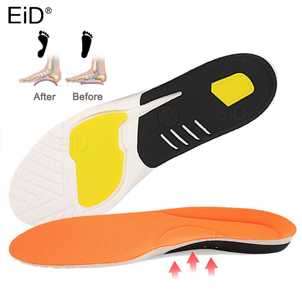 EiD PU Mesh Sport Orthopedic Insoles Orthotics flat foot Health Sole Pad for Shoes insert Arch Support pad plantar fasciitis