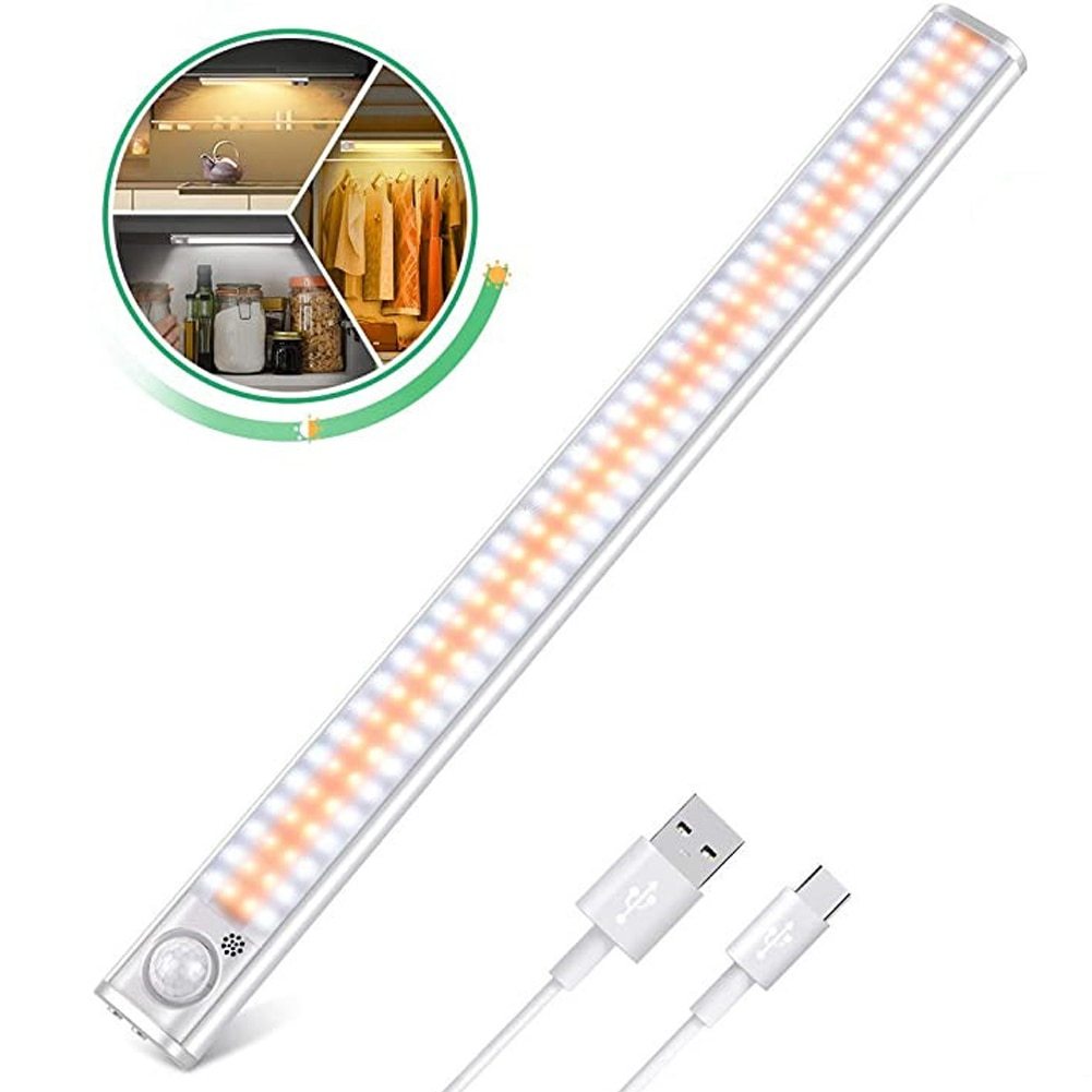 Cabinet Night Light Motion Sensor Wardrobe Closet LED Light Wireless USB Recharge Light Stairs Kitchen Bedroom Backlight Light  - buy with discount