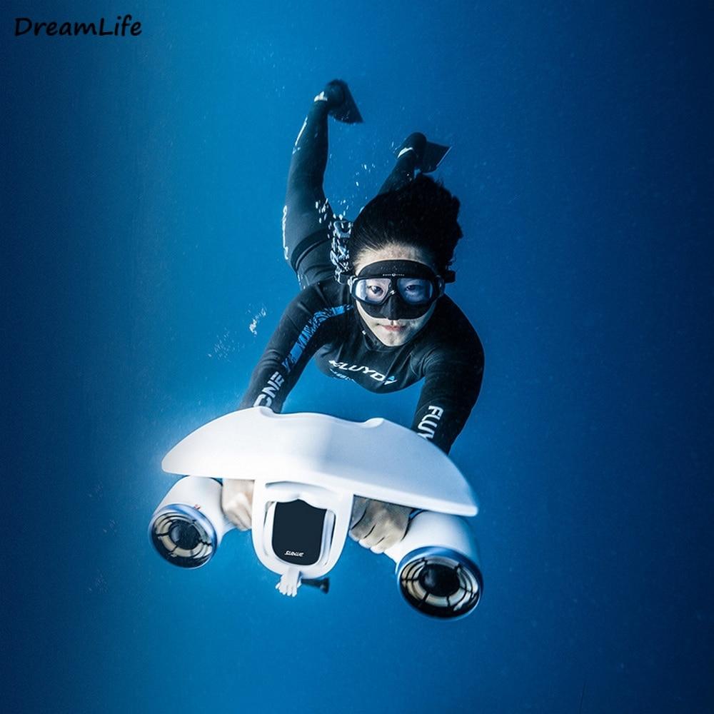 تحت الماء سكوتر 520 واط الكهربائية 3 سرعة بدون طيار روبوت الغوص الداعم الغوص المروحة مناسبة المحيط بركة أدوات رياضية