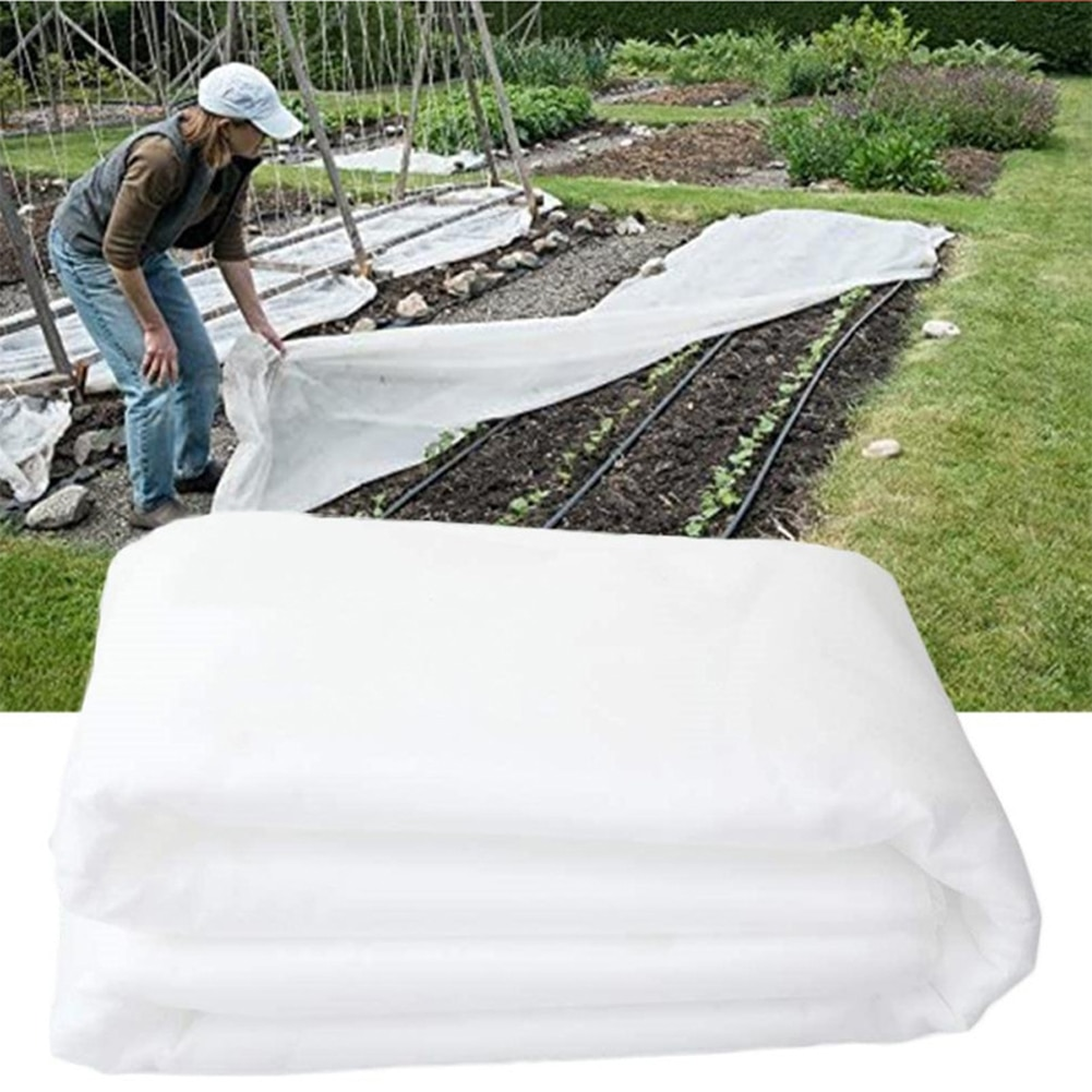 Non-woven Fabrics 1.6*9M Insect Organic Net Garden Greenhouse Frosty Cover Crop Fruit Tree Flower Plant Pond Protective