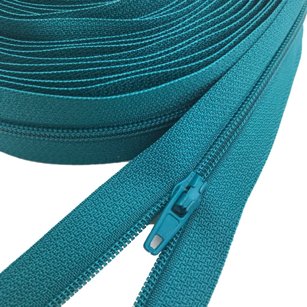 10 Meters 25 Colors Nylon Coil Zippers with 20pcs Auto lock Zipper Slider - Supplies for Tailor Sewi